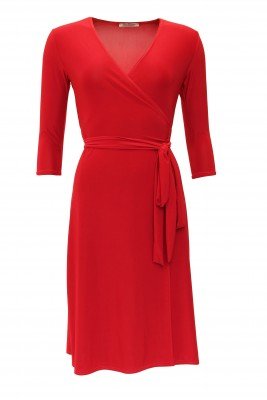 5829 Red Elegant Wrap Dress Ghost