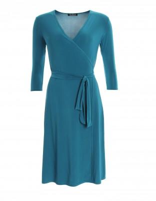5832 Teal Elegant Wrap Dress Ghost