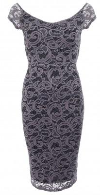 6271c Grey Crochet Lace Dress Ghost