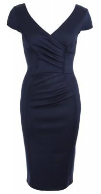 6301b Navy Blue Body Con Dress Ghost
