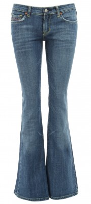 5991 Distressed Boot Flare Jeans Ghost