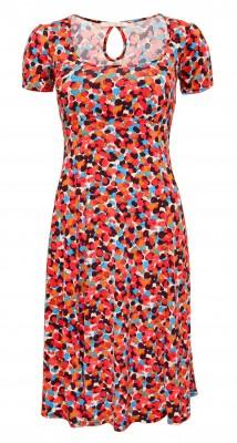 6139  Red Spotty Print Tea Dress Ghost