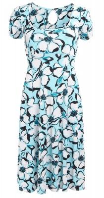 6300b Blue Floral Tea Dress Ghost