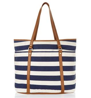 Accessorize Stripe Beach Tote Bag