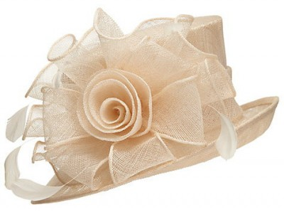 John Lewis Louisa Twisted Flower Occasion Hat, Chamapagne