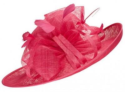 John Lewis Tess Large Brim Occasion Hat, Lipstick