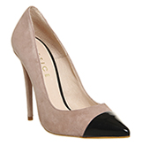 Office Arch Toe Cap Point Heels Mink and Black