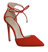 Office Nicole Point Courts Red Nubuck Leather