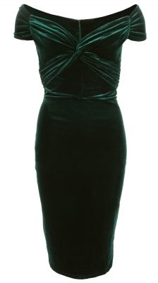 6329b-green-velour-bardot-dress-ghost