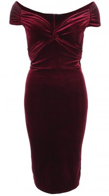 6330b-wine-velour-bardot-dress-ghost