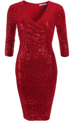 6334b-red-verlour-sequin-knee-length-dress-ghost