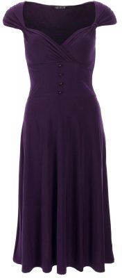 5760c Purple Sweetheart Neckline Dress