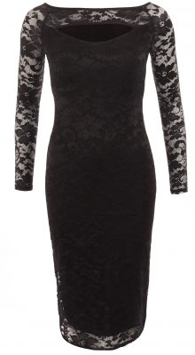 6203c Black Lace Keyhole Dress