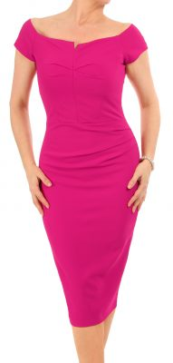6352 Cerise Bardot Dress