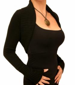 Black Long Sleeved Shrug