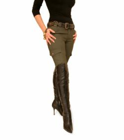 Khaki Skinny Combat Stretchy Trousers