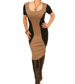 Mocha Block Colour Shift Dress