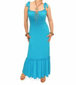 Turquoise gypsy style maxi dress