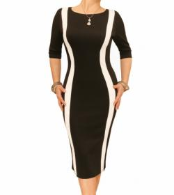 Black and Ivory Shift Dress