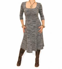 Grey Marl A-Line Dress