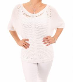 White Crochet Style Top