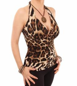 Animal Print Halter Top