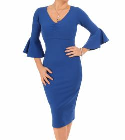 Blue Bell Sleeve Midi Dress