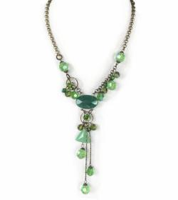 Emerald Green Vintage Style Statement Necklace
