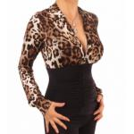 Animal Print Corset Stretchy Top
