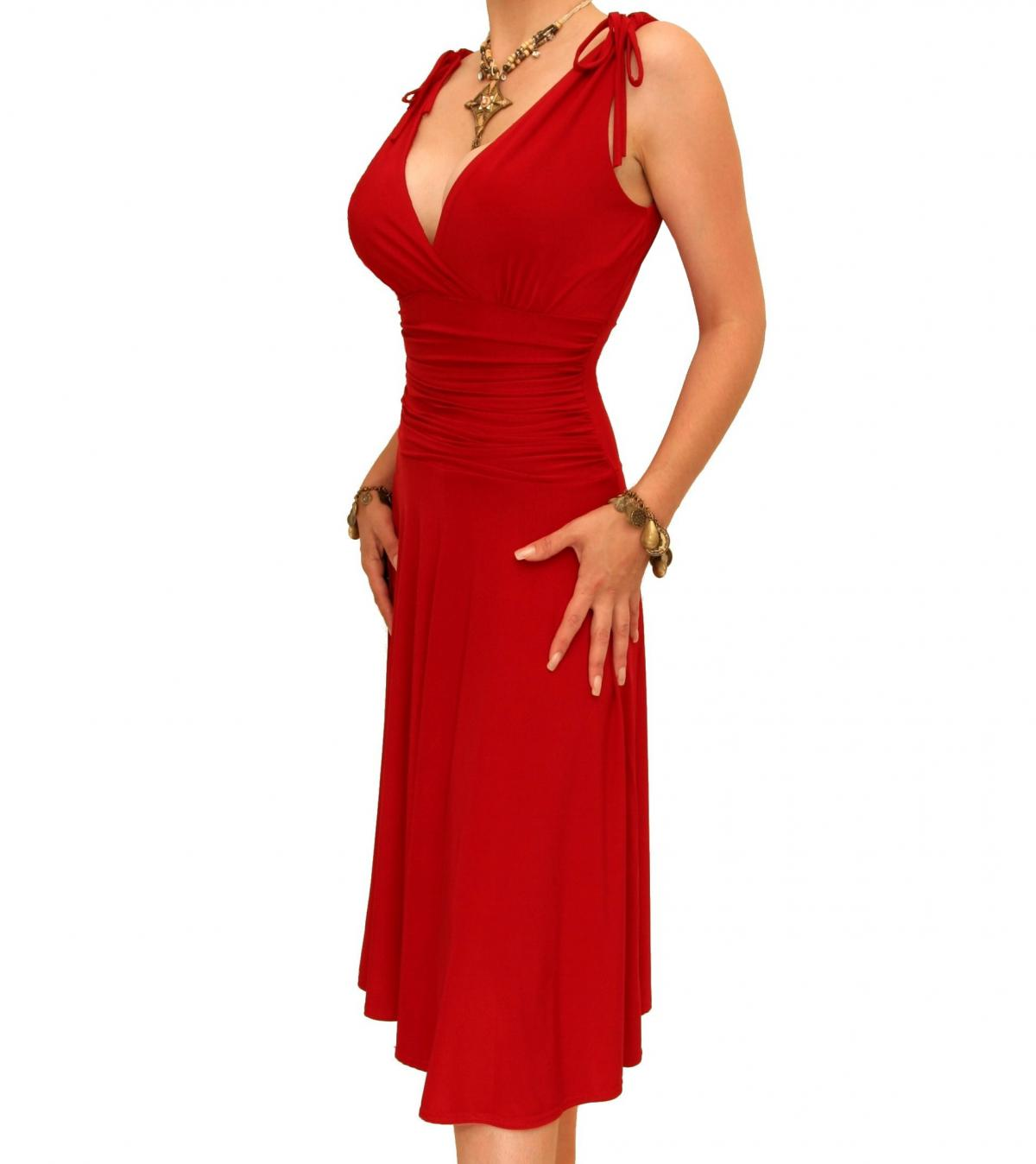 Red Grecian Style Dress