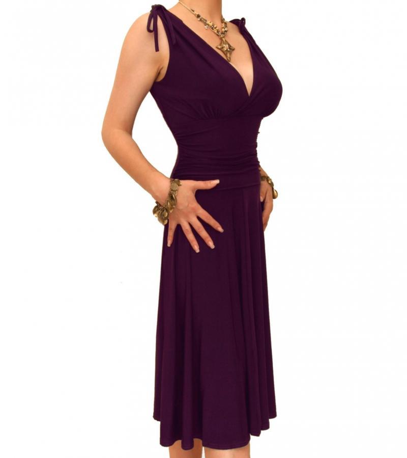 Purple Grecian Style Dress