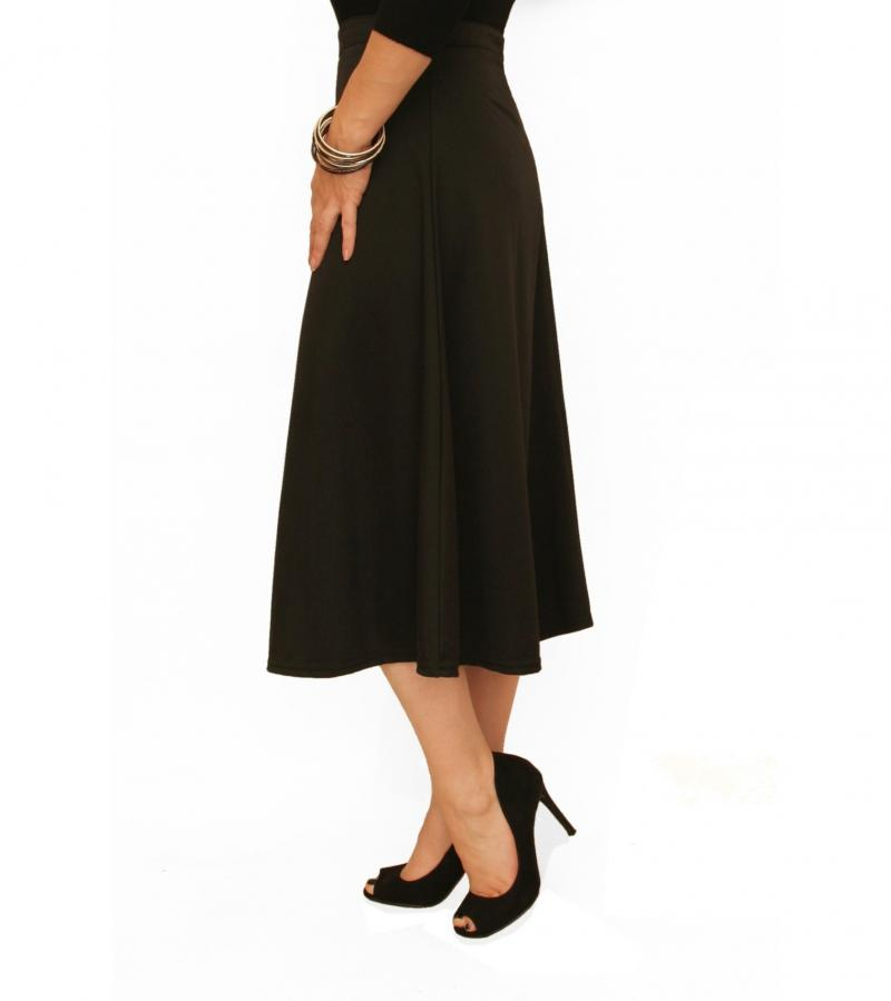 just blue black ponte a line skirt