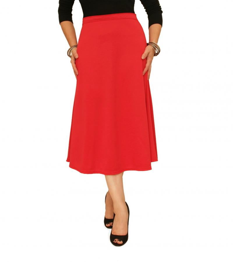 This classic A-Line skirt lends a feminine touch and all-day comfort to your look. Size S/M: 25'' long from high point of shoulder to hem; Woven.