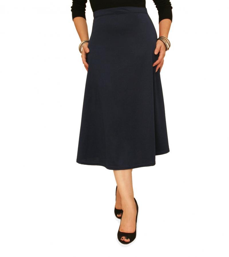just blue navy blue ponte a line skirt