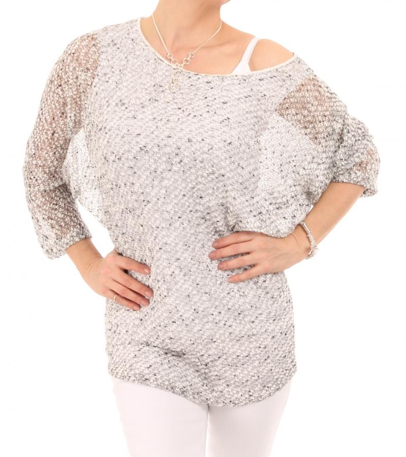 Grey Marl Batwing Top