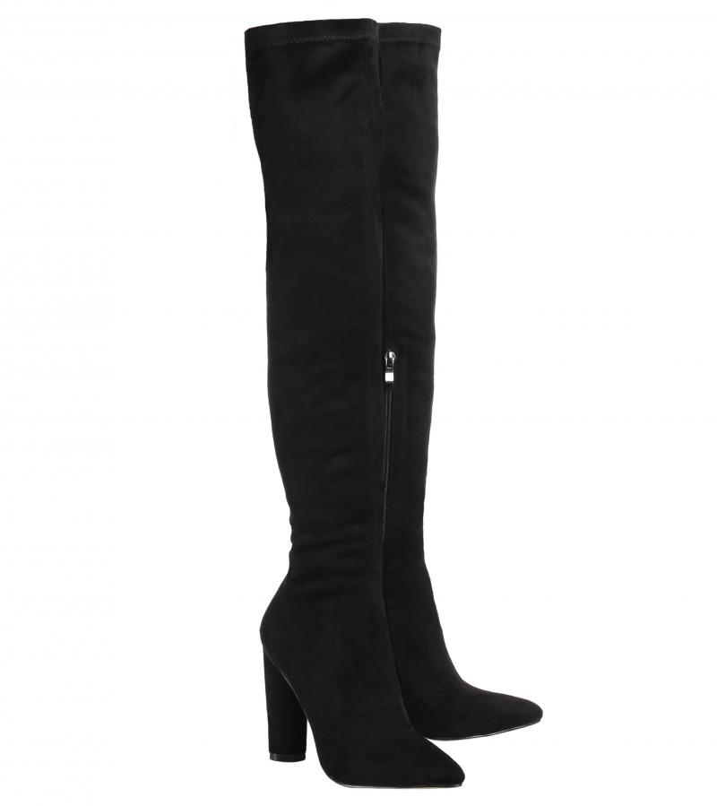 Black Stretch Over the Knee Boots